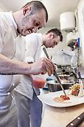 Milan, Bollate, InGalera Restaurant: Massimo e Fabio at work