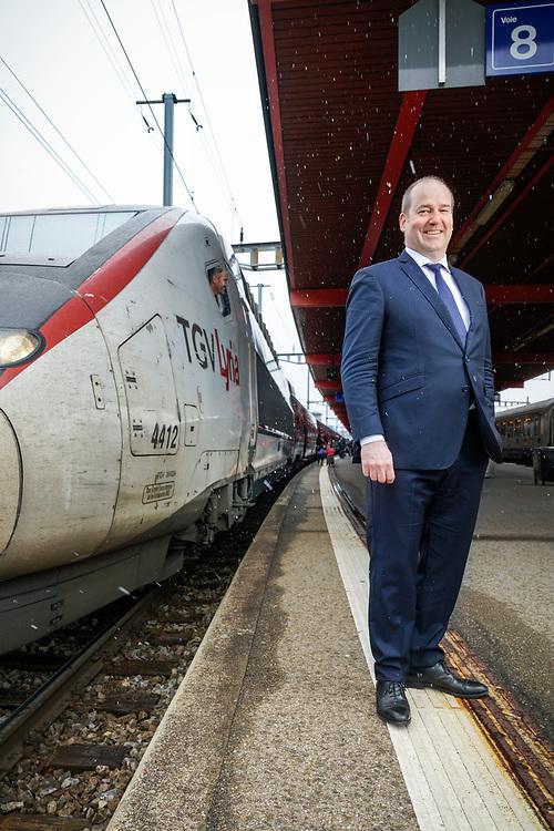 Andreas Bergmann a &eacute;t&eacute; nomm&eacute; &agrave; la t&ecirc;te TGV Lyria, la filiale conjointe de SNCF et des CFF. Il entrera en fonction le 1er juillet 2015. <br /> Novembre Gen&egrave;ve 2017<br /> &copy; Nicolas Righetti /Lundi13.ch