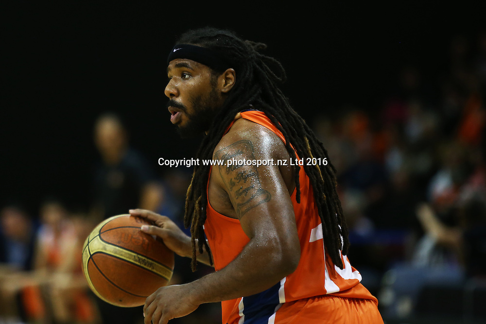 Jordair Jett of the Sharks in action in the NBL basketball match between the Southland Sharks and Nelson Giants, ILT Stadium Southland, Invercargill, Saturday, March 12, 2016. Photo: Dianne Manson / www.photosport.nz