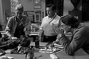 "Tea Leoni, Ricky Gervais, David Koepp on the set of ""Ghost Town"" (Dir: David Koepp, 2008)"