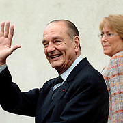 Editorial Only<br /> <br /> Title: CHIRAC<br /> <br /> JACQUES CHIRAC, MICHELLE BACHELET<br /> <br /> Author: Francisco Arias <br /> <br /> <br /> <br /> Copyrights: Francisco Arias <br /> <br /> Copyrights notice:  Francisco Arias <br /> <br /> Date Create:26-05-2006<br /> <br /> City: Santiago<br /> <br /> Country: Chile<br /> <br /> Credit :FRANCISCO ARIAS<br />   <br /> <br /> Editorial Only<br /> &copy;PHOTO :FRANCISCO ARIAS<br /> SANTIAGO DU CHILI 26/5/06