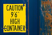 Label on a high container, Togo, Thursday October 2, 2008.
