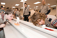 Rain Gutter Regatta for Pack 243 at Gilford Community Church, January 25, 2010.