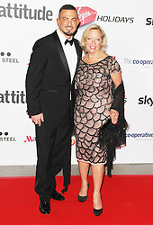 © Licensed to London News Pictures. 15/10/2013.Robin Windsor & Debra Meaden, Attitude Magazine Awards 2013, Royal Courts of Justice, London UK, 15 October 2013. Photo credit : Brett D. Cove/Piqtured/LNP