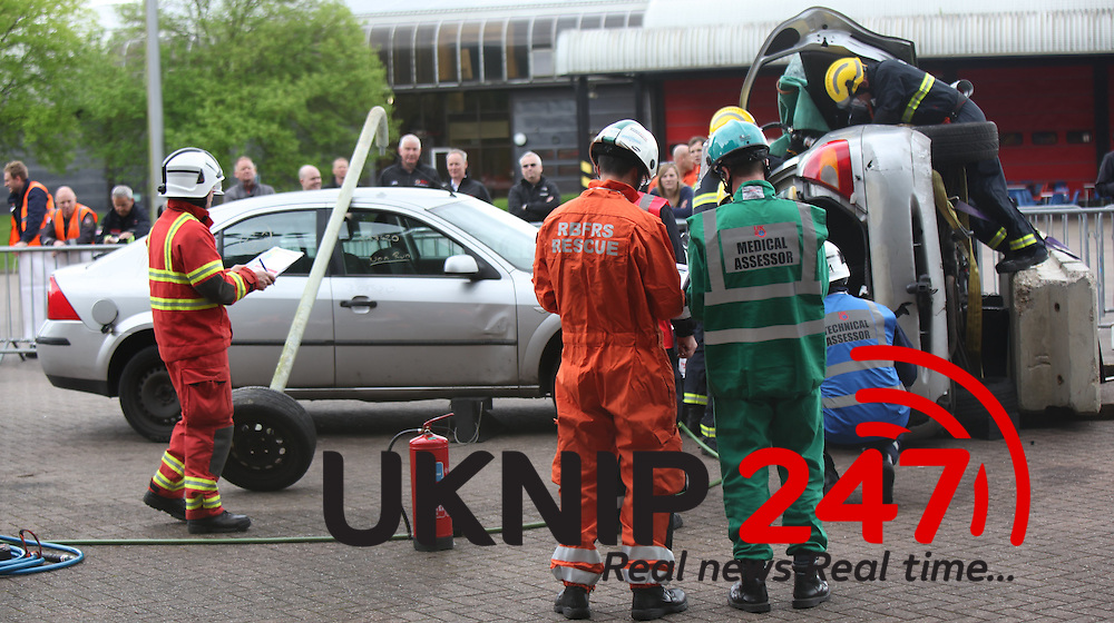 Firefighters from across the United Kingdom travelled to the Hampshire Fire and Rescue Headquarters in Eastleigh on Saturday April 25 to compete in a United Kingdom Rescue Organisation (UKRO) regional competition. Teams from nine fire services sent specialist firefighters to compete in this contest, one of the largest rescue competitions in the world.<br /> Under the watchful eyes of some of the top examiners and trainers in the country the teams had to complete two challenges, which this year included casualty management/trauma care and extrication/vehicle rescue, with each team having a different scenario. Specialist trauma make- up was provided by the students at The University of Winchester.<br /> <br /> The teams were assessed on three categories: Technical, Medical and Command. Hampshire Fire and Rescue had two teams taking part. Retained fire fighters from Bordon sent a crew and whole time fire fighters made up from Andover, Cosham and Fareham made another team. The top award was scooped by visiting South Wales Fire and Rescue Service, with Eastleigh coming second overall but winning many awards in the other categories.<br /> Assistant Chief Fire Officer, Steve Apter, UKRO chair said: &ldquo;I would like to congratulate all of the firefighters who took part in the competition and I would like to thank Hampshire Fire and Rescue Service for hosting this fantastic event.&rdquo; He went on to say the range of skills and professionalism on show during the event was fantastic and it was great to see all of the teams&rsquo; efforts recognised by those at the awards ceremony. &ldquo;I am very proud of the firefighters from South Wales Fire and Rescue this result is without doubt, due to their professionalism, dedication and commitment to their training, to be the best at what they do.&rdquo;