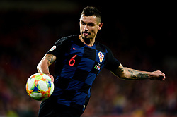 Dejan Lovren of Croatia - Mandatory by-line: Ryan Hiscott/JMP - 13/10/2019 - FOOTBALL - Cardiff City Stadium - Cardiff, Wales - Wales v Croatia - UEFA European Qualifiers