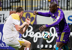 Jean Philippe Mendy #14 of Maribor during football match between NK Maribor and ND Triglav in 34th Round of Prva liga Telekom Slovenije 2013/14, on May 13, 2014 in Stadium Ljudski vrt, Maribor, Slovenia. NK Maribor became Slovenian National Champion 2014. Photo by Vid Ponikvar / Sportida