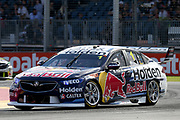JAMIE WHINCUP (Red Bull Holden) with James Courtney and Scott McLaughlin. Adelaide 500 -Virgin Australia Supercars Championship Round 1. Adelaide Street Circuit, South Australia. Sunday 4 March 2018. Photo Clay Cross / photosport.nz