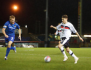Dundee's Nicky Riley  runs at Inverness Caledonian Thistle's Richie Foran  - Inverness Caledonian Thistle v Dundee, Clydesdale Bank Scottish Premier League at Tulloch Caledonian Stadium, Inverness.. - © David Young - www.davidyoungphoto.co.uk - email: davidyoungphoto@gmail.com