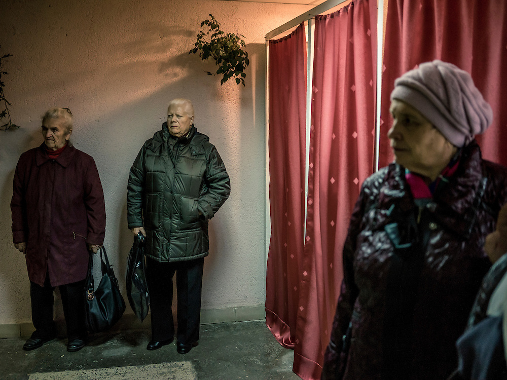 A scene inside a polling station on Sunday, October 11, 2015 in Babruysk, Belarus. President Alexander Lukashenko was elected to a fifth term today in a vote that most international observers considered deeply flawed.