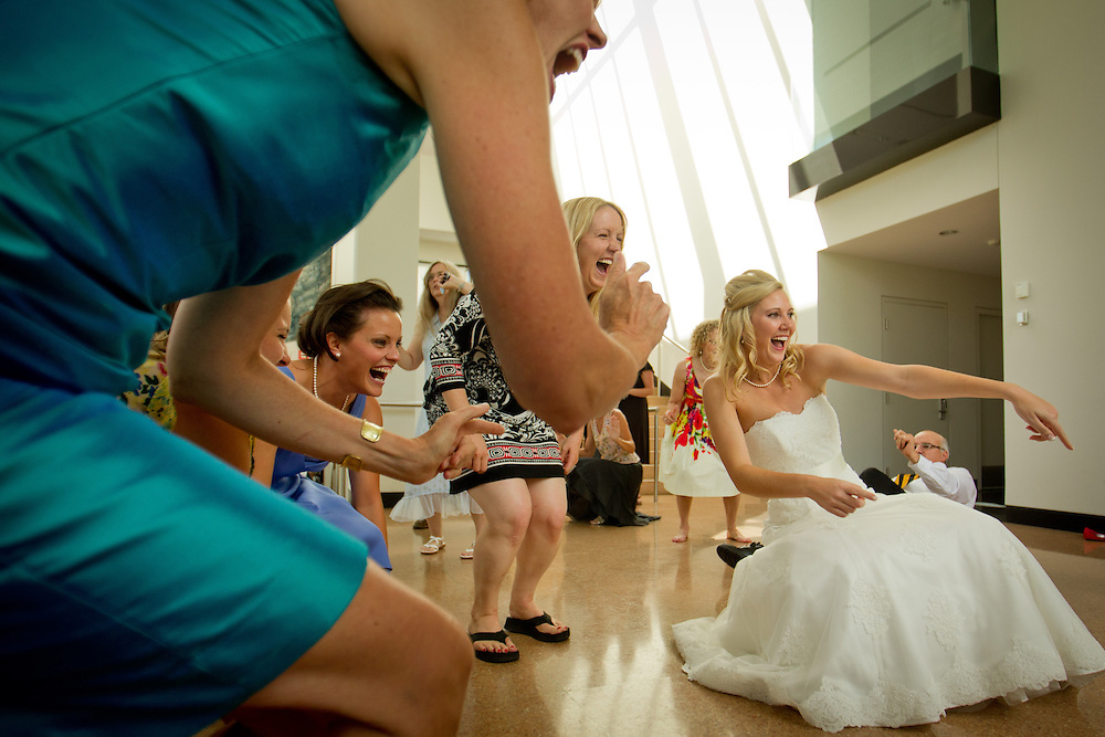 Holly and Luke are married at the Colorado Springs Fine Art Center in Colorado Springs