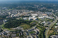 Aerial Photo of MedImmune office buildings in Gaithersburg MD by Jeffrey Sauers of Commercial Photographics