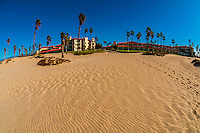 Beach at Embassy Suites Mandalay Beach Hotel & Resort, Oxnard, California USA