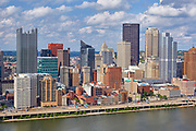 View of the Pittsburgh, Pennsylvania skyline from across the Monongahela river