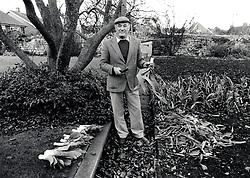 Man gardening, Nottingham UK 1988