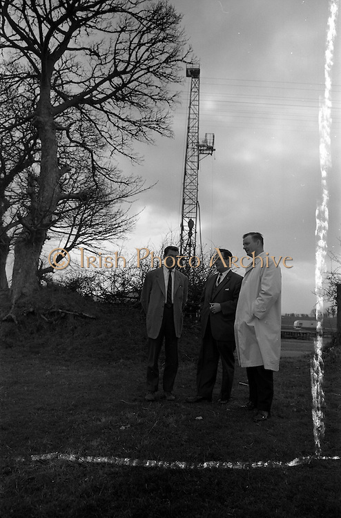 22/03/1963<br /> 03/22/1963<br /> 22 March 1963<br /> Mr Saul visits Ambassador Oil rig at Lismaine, Ballyragget, Co. Kilkenny.