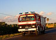 Fire truck near Sabalo, Pinar del Rio, Cuba.