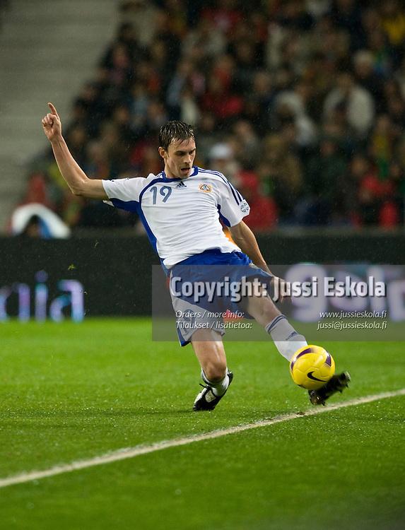 Toni Kallio. Portugali-Suomi, EM-karsinta, Porto. 21.11.2007. Photo: Jussi Eskola