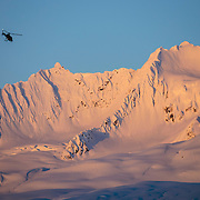 Early start shuttling athletes to 'The Venue' for the 2016 Freeride World Tour in Haines, Alaska.