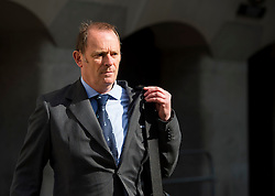 © Licensed to London News Pictures. 10/06/2015. London, UK. Former specialist firearms officer with the Metropolitan Police ANTHONY LONG leaving the Old Bailey in London on June 10, 2015, where is accused of murdering Azelle Rodney in April 2005. Rodney died after officers stopped the car he was travelling in with two other men in Edgware, north London. Photo credit: Ben Cawthra/LNP