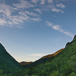 Early morning in Crawford Notch State Park in New Hampshire's White Mountains.