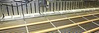 D&uuml;ren. 15.03.17 | BILD- ID 044 |<br /> GKD - Gebr. Kufferath AG. Metallfassade f&uuml;r die Neue Mannheimer Kunsthalle.<br /> Das Unternehmen in D&uuml;ren produziert Fassaden f&uuml;r die Architektur aus Metall. Ein gewebtes Metallgitter wird von Aussen an die Fassade montiert. <br /> Kunsthallendirektorin Dr. Ulrike Lorenz besucht das Unternehmen in D&uuml;ren und freut sich &uuml;ber die technische Umsetzung mit einer speziell goldenen Pigmentierung der Edelstahlstreben.<br /> Bild: Markus Prosswitz 15MAR17 / masterpress (Bild ist honorarpflichtig - No Model Release!)