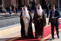 Saudi Minister of Energy, Industrial and Mineral Resources, Khalid al-Falih (C), arrives to attend the Africa Action Summit, on the sidelines of the COP22 Climate Change Conference, on November 16, 2016 in Marrakesh. Photo by Alain Robert/ABACAPRESS.COM
