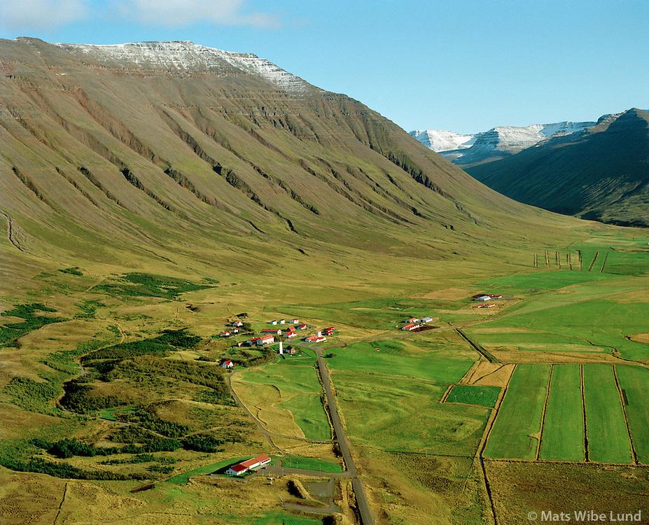 Hólar séð til suðausturs, Hólahreppur / Holar viewing southeast, Hólahreppur
