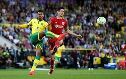 Josh Murphy of Norwich City clears the ball from Callum O'Dowda of Bristol City - Mandatory by-line: Robbie Stephenson/JMP - 16/08/2016 - FOOTBALL - Carrow Road - Norwich, England - Norwich City v Bristol City - Sky Bet Championship