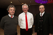 Stephen Dowds, Gerry Milkern and PJ Brady, Coole Voices who  performed  at Choir Factor in the Radisson Blu.<br /> Choir Factor is a fundraiser for The Sccul Sanctuary, Therapeutic Support Centre in Kilcornan Clarenbrdge.<br /> <br />  Photo:Andrew Downes, xposure.
