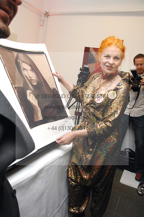 DAME VIVIENNE WESTWOOD at a party to celebrate the publication of Vivienne Westwood's Opus held at The Serpentine Gallery, Kensington Gardens, London W2 on 12th February 2008.<br />