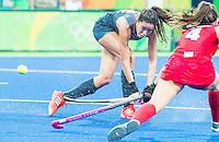 RIO DE JANEIRO -  Naomi van As (Ned) tijdens de finale tussen de dames van Nederland en  Groot-Brittannie in het Olympic Hockey Center tijdens de Olympische Spelen in Rio.    COPYRIGHT KOEN SUYK