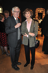 ALEXANDER CHANCELLOR and LINDY, MARCHIONESS OF DUFFERIN & AVA at a party to celebrate the publication of The irish Country House written by The Knight of Glin and James Peill with photographs by James Fennell, held at Christie's, King Street, London on 24th January 2011.