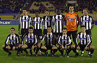 4.11.2004 Beograd(Serbia)<br />Partizan-Egaleo  Uefa Cup League<br /> Partizan team <br />up:Zoran Mirkovic,Ifeani Emeghara,Dragan Ciric,Pierre Boya,Ivica Kralj,Tomic Ivan<br />down: Brnovic Bojan,Nemanja Rnic,Djordjevic Nenad,Sasa Ilic and Simon Vukchevic<br />Foto:Aleksandar Djorovic
