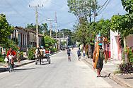 Street in Jiguani, Granma, Cuba.