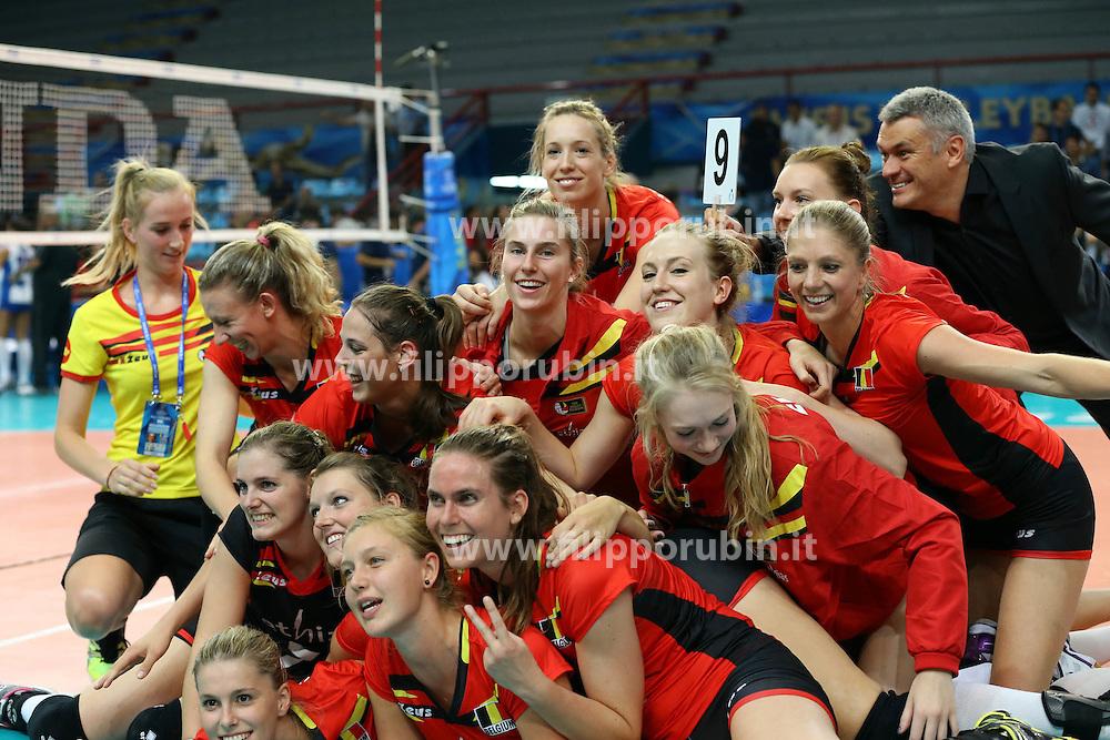 Team Belgium celebrate