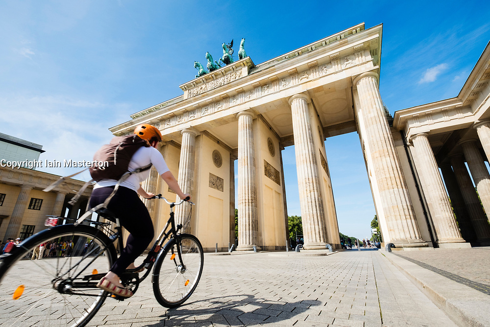 Brandenburg Gate in Mitte district of Berlin Germany