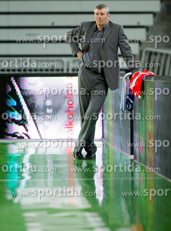 Damjan Novakovic, head coach of Sentjur during basketball match between KK Union Olimpija and KK Sentjur in 4th Round of Telemach League for Slovenian National Champion 2011/12, on April 4, 2012, in Arena Stozice, Ljubljana, Slovenia. (Photo by Vid Ponikvar / Sportida.com)