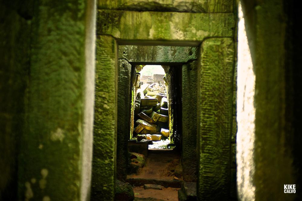 Ancient ruins of Preah Khan Temple, Angkor, Cambodia.