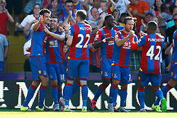 Goal, Scott Dann of Crystal Palace scores, Crystal Palace 2-0 Aston Villa - Mandatory byline: Jason Brown/JMP - 07966386802 - 22/08/2015 - FOOTBALL - London - Selhurst Park - Crystal Palace v Aston Villa - Barclays Premier League