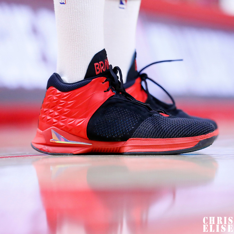 11 February 2015: Close view of Los Angeles Clippers guard Jamal Crawford (11) BrandBlack shoes during the Los Angeles Clippers 110-95 victory over the Houston Rockets, at the Staples Center, Los Angeles, California, USA.