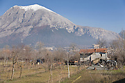 La Serra di Celano mountain in the Sirente-Velino regional park, L'Aquila province, Abruzzo, central Italy