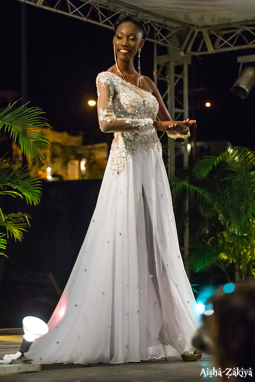 Evening Wear Segment.  Contestant #2 Lakeisha Hendrickson.  St. John Festival Queen: 2015.  Winston W. Wells Ball Field.  St. John, Virgin Islands.  21 June 2015.  © Aisha-Zakiya BoydSt. John Festival Queen: 2015.  Winston W. Wells Ball Field.  St. John, Virgin Islands.  21 June 2015.  © Aisha-Zakiya Boyd