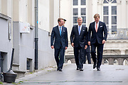 Koning Willem-Alexander, groothertog Henri van Luxemburg en de Belgische koning Filip tijdens de viering van de zestigste verjaardag van het samenwerkingsverband tussen Nederland, Belgie en Luxemburg (Benelux).<br /> <br /> King Willem-Alexander, Grand Duke Henri of Luxembourg and the Belgian King Philip during the celebration of the sixtieth anniversary of the partnership between the Netherlands, Belgium and Luxembourg (Benelux).