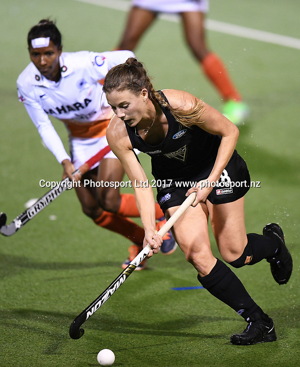 Shiloh Gloyn.<br /> Vantage Black Sticks Women vs India. International Hockey. Rosa Birch Park, Pukekohe, Auckland, New Zealand. Wednesday 17 May 2017 &copy; Copyright Photo: Andrew Coranga / www.photosport.nz