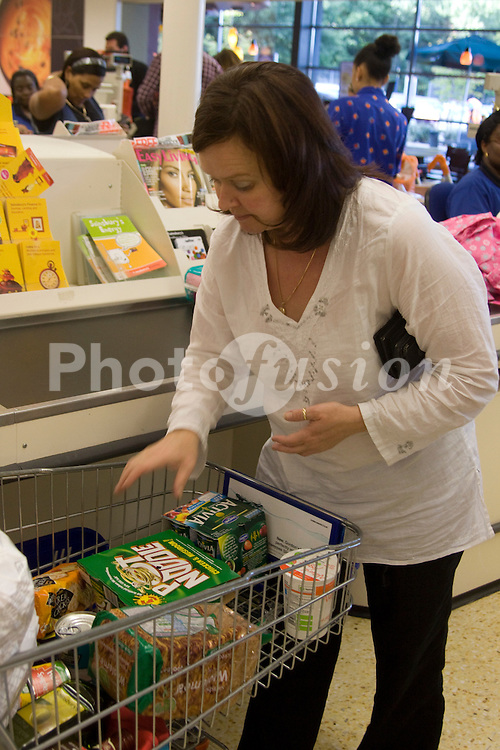 At the checkout; Sainsbury's supermarket; East Dulwich London