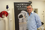 SEAMUS FAHY, Philip Treacy to create Bespoke Voltaire Daimonds ring collection. Philip Treacy showroom. London. 19 July 2012.