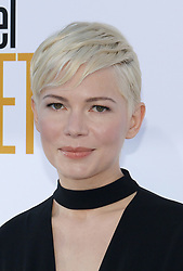 Michelle Williams at the Los Angeles premiere of 'I Feel Pretty' held at the Regency Village Theatre in Westwood, USA on April 17, 2018.