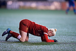 WIDNES, ENGLAND - Wednesday, February 7, 2018: Liverpool's Bethany England looks dejected after missing a chance during the FA Women's Super League 1 match between Liverpool Ladies FC and Arsenal Ladies FC at the Halton Stadium. (Pic by David Rawcliffe/Propaganda)