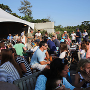 Early evening at Cisco Brewery, Nantucket, which provides a family atmosphere with a band playing and caters for young and old with food and drink. Nantucket Island, Massachusetts, USA. Photo Tim Clayton